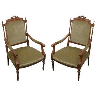 Louis XVI Armchairs - A Pair For Sale