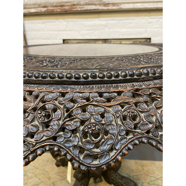 Asian 19th Century Burmese Round Center Table For Sale - Image 3 of 10