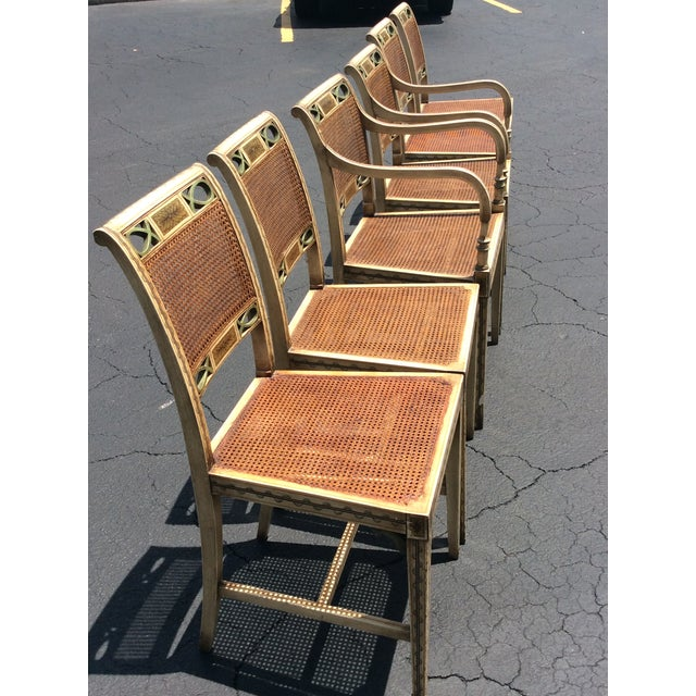 Traditional 1920s French Country Wicker Dining Chairs - Set of 6 For Sale - Image 3 of 13