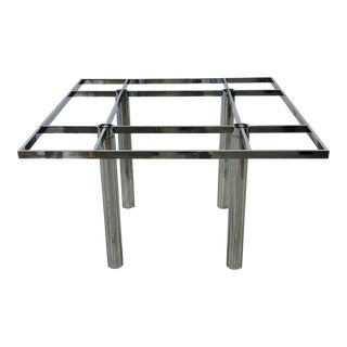 1960s Mid-Century Modern Tobia Scarpa for Knoll André Chrome Dining Table Base For Sale