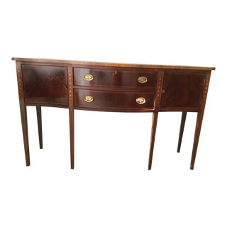 1990s Vintage Mahogany Sideboard For Sale