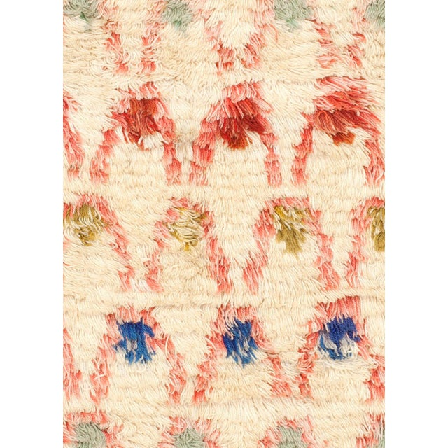 "Vintage Swedish Pile Rya rug by Ingrid Hollman Knafve Size: 5'0"" x 7'3"" (152 × 220 cm) This midcentury vintage Swedish..."
