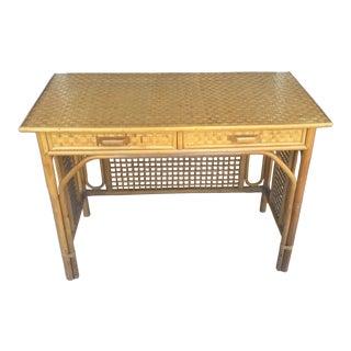 Vintage Rattan Desk
