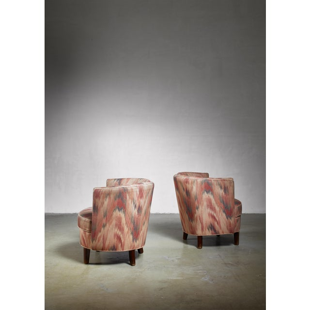 Mid-Century Modern Pair of Danish Club Chairs, 1940s For Sale - Image 3 of 6