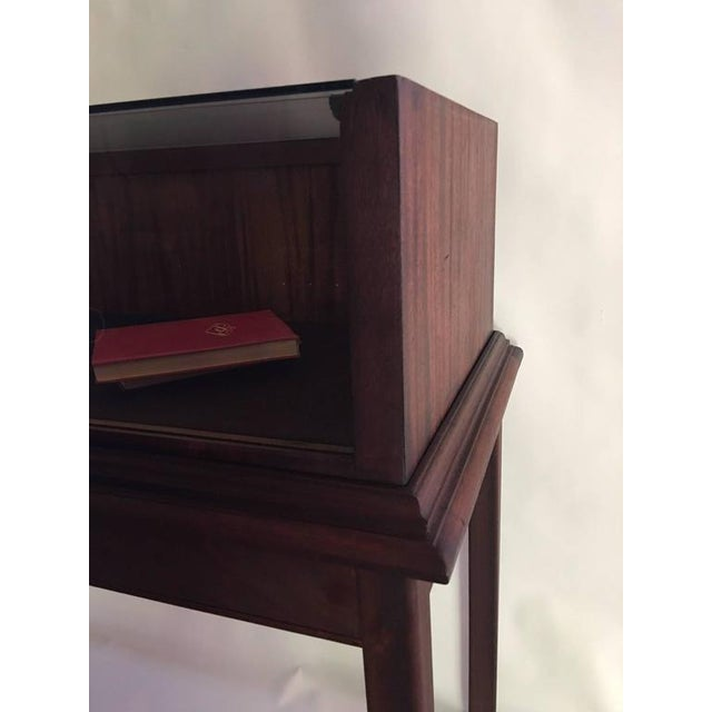 Brown Custom Mahogany Display Case or Vitrine for Collections or Artifacts For Sale - Image 8 of 8