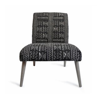 Mudcloth Black & White Side Chair Preview