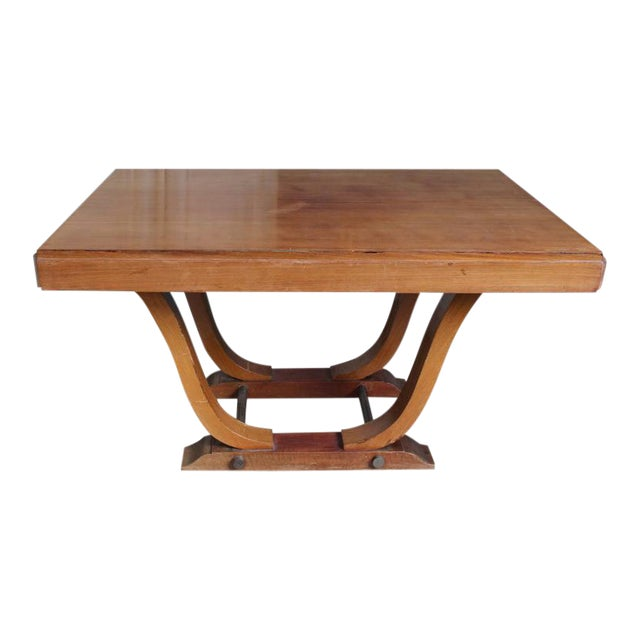French 1940s Art Deco Style Rosewood Dining Table - Image 1 of 9