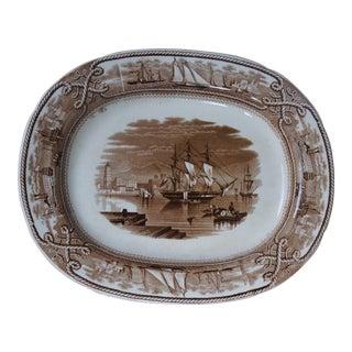 Staffordshire Marine Pattern Platter For Sale