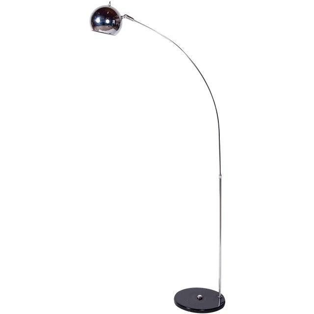 Elegant Sonneman Chrome Ball Arc Floor Lamp For Sale