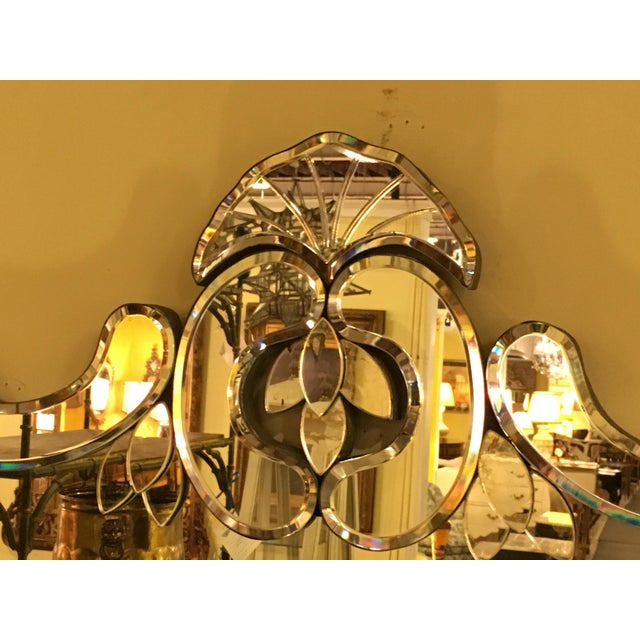 Venetian Style Over Mantle or Console Mirror For Sale - Image 4 of 8
