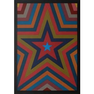1992 Sol Lewitt Five Pointed Star With Color Bands Barcelona Olympic Games Print For Sale