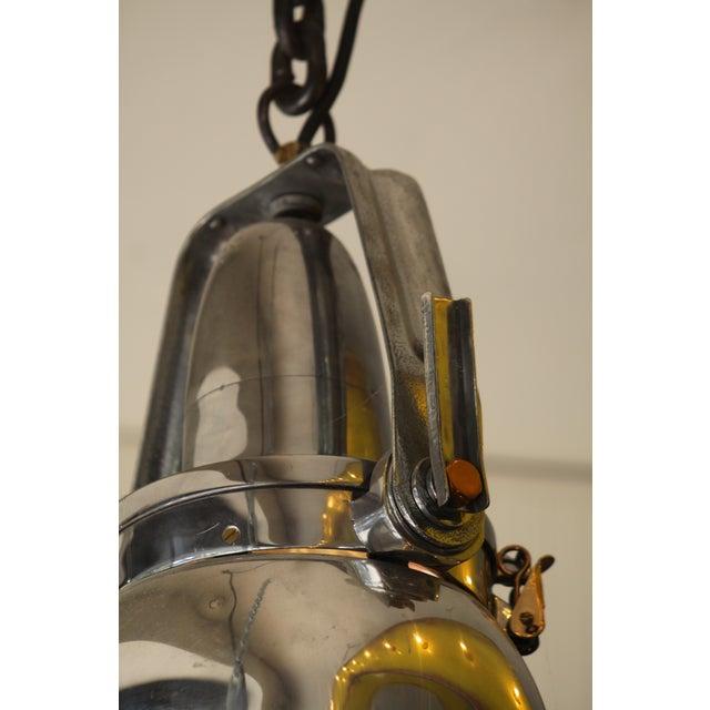Vintage Industrial Aluminum & Steel Pendant Lamp - Image 7 of 10