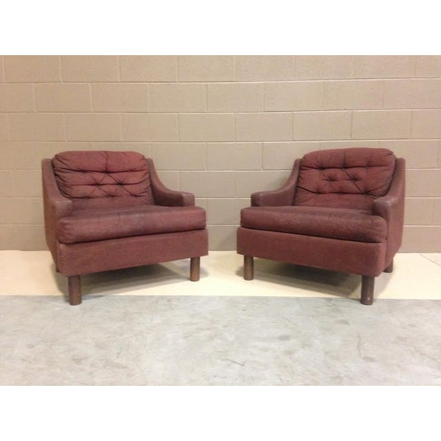 Selig Low Lounge Chairs - A Pair - Image 2 of 7