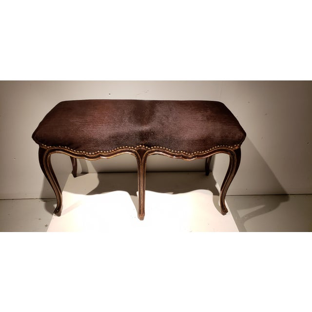 Rococo Late 19th Century French Louis XV Style Bench For Sale - Image 3 of 10