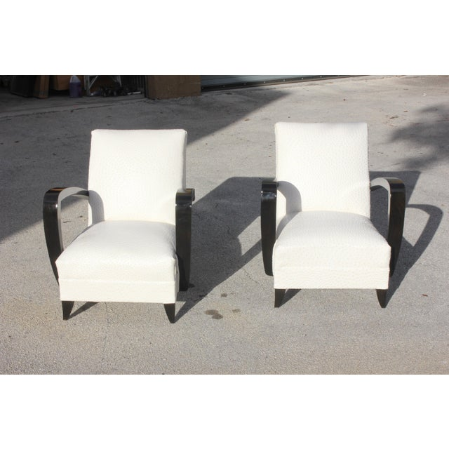 French Art Decor Club Chairs - A Pair - Image 4 of 10