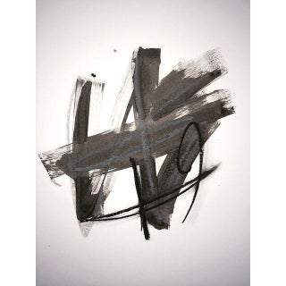 Black and White Original Abstract Painting For Sale