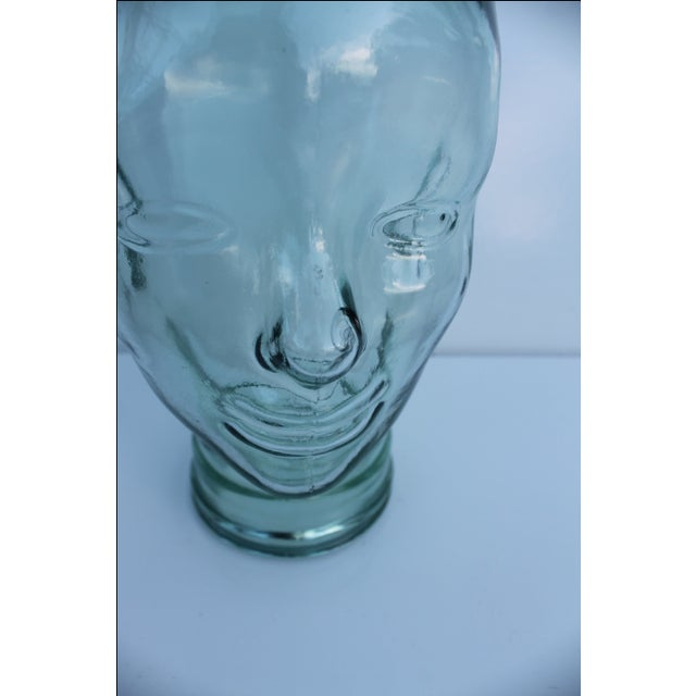 Molded Light Green Glass Head - Image 6 of 9