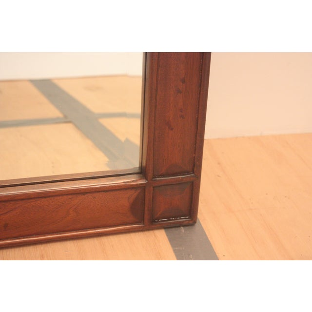 Pediment Detail Beveled Mirror For Sale - Image 4 of 11