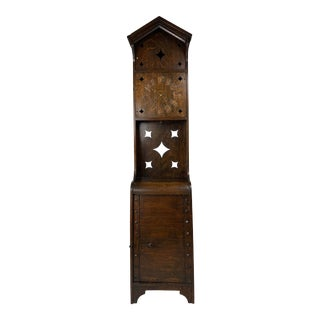 1940s Antique Arts & Crafts Mission Grandfather Clock For Sale