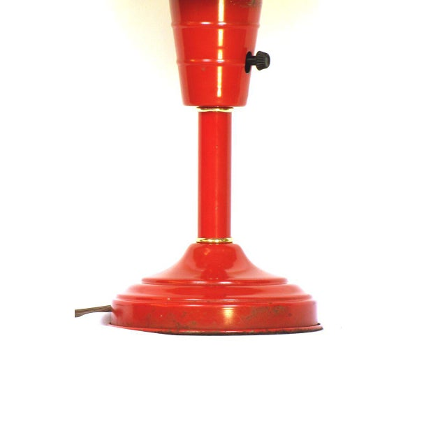 Mid-Century Modern Red Atomic Table Lamp For Sale - Image 3 of 4