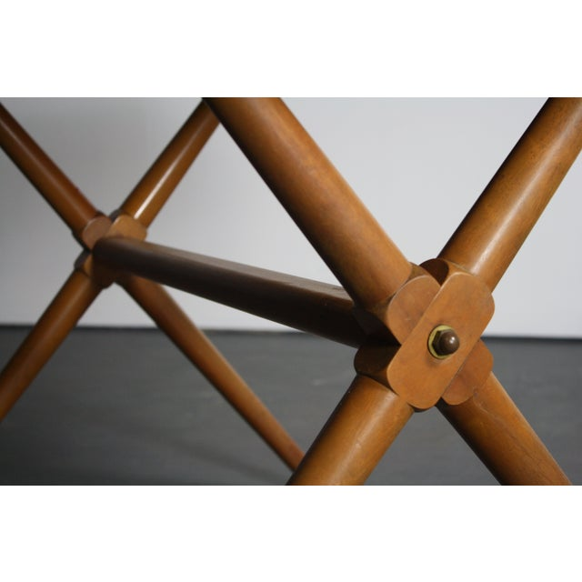 Walnut Dining Table X Base, Manner of Widdicomb For Sale - Image 10 of 10
