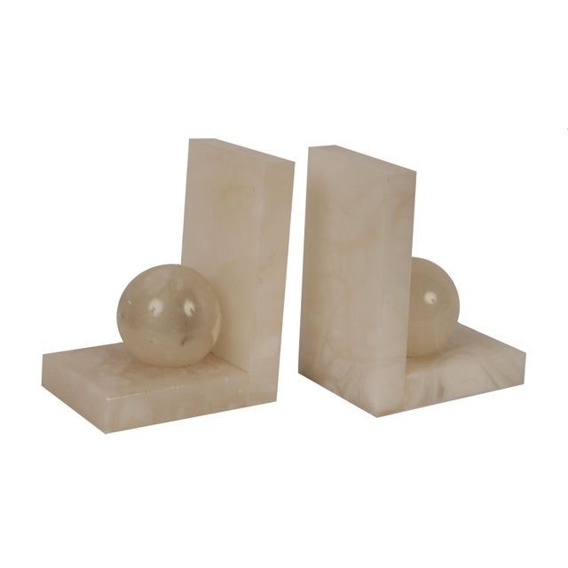 Vintage Alabaster Bookends - A Pair - Image 1 of 2