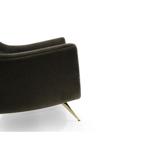 Gold Henry Glass Lounge Chairs in Mohair - a Pair For Sale - Image 8 of 13