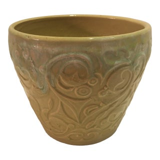 1970's Two Tone Green Cache Pot For Sale