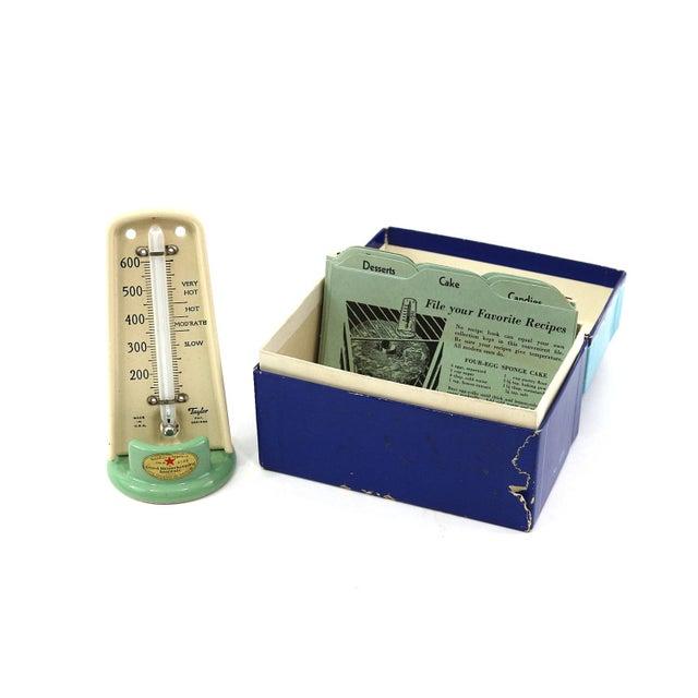 1930s Oven Thermometer & Original Recipe Box - Image 1 of 7
