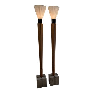 Art Deco Floor Lamps With a Twist For Sale