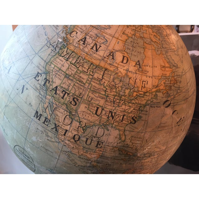 Wonderful early 20th century globe from France made from plaster. These are hard to find and this one is in excellent...