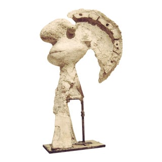 """Late 20th Century """"Head of Warrior"""" Plaster Sculpture After Pablo Picasso For Sale"""