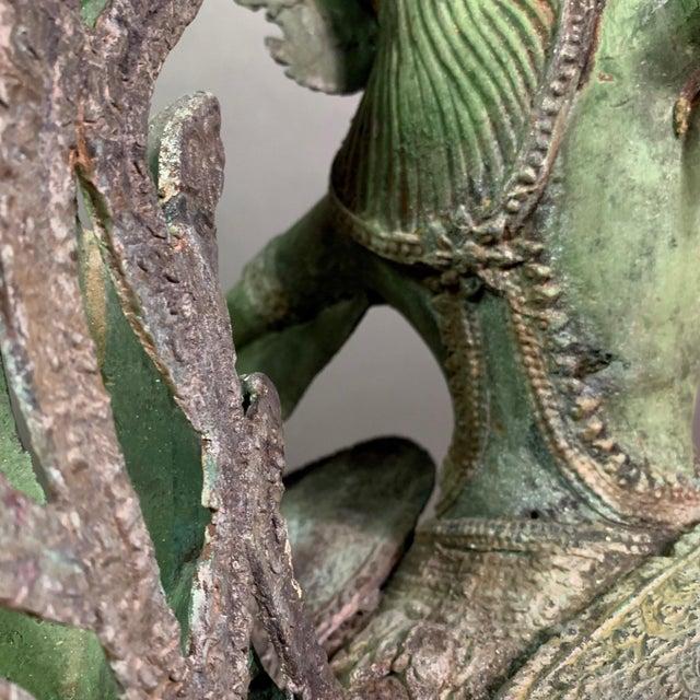 "Bronze Early 1900s Mythologic Kinnaris 30"" Bronze Statue, Thailand For Sale - Image 7 of 12"