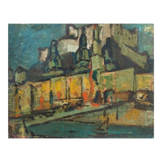 'Wenceslas Castle, Prague' by Wedo Georgetti, California Fauve, Society of American Graphic Artists, De Young Museum For Sale