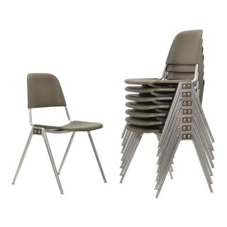 Don Albinson Stacking Side Chairs by Knoll Set of 14 For Sale