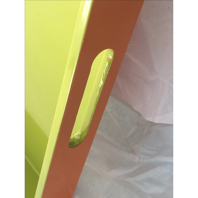 Lime Green Lacquer Tray - Image 3 of 8