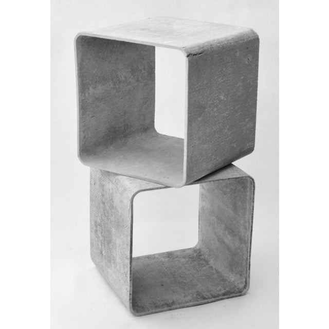 Concrete Authentic Willy Guhl Modular Square Cube Tables For Sale - Image 7 of 7