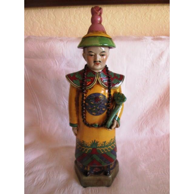 Chinese Ceramic Priest Figurine - Image 3 of 10