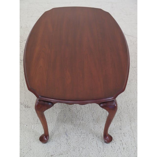 Queen Anne Henkel Harris Cherry Scalloped Top Coffee Table For Sale - Image 3 of 10