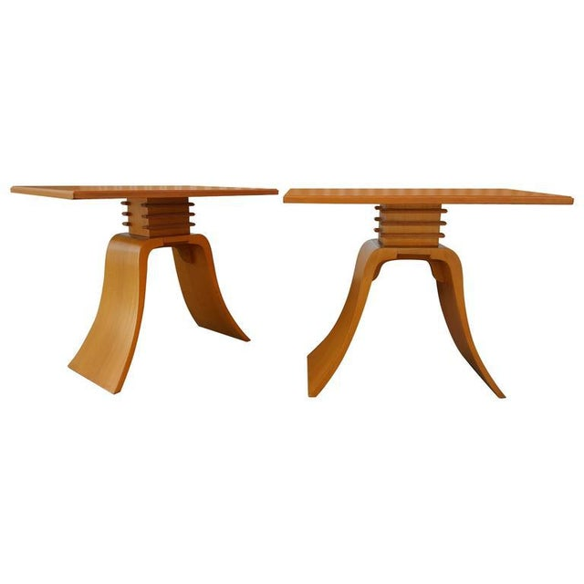 "Paul Frankl ""Bell"" End Tables For Sale - Image 9 of 9"