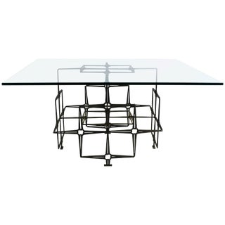 Mid-Century Modern Tri Mark Studio Brutalist Nails Coffee Table For Sale