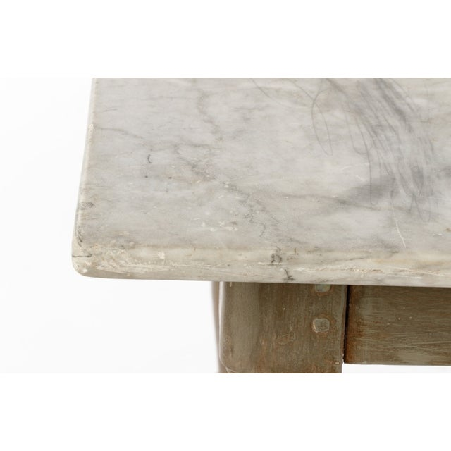 19th Century Gustavian Table With Marble Top and 18th Century Gustavian Farm Table - Image 7 of 10