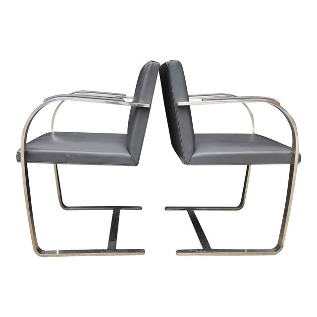 Vintage Mies Van Der Rohe Brno Chairs - A Pair - Image 3 of 6