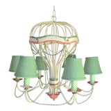 Image of 1960s Italian Tole Hot Air Balloon Chandelier For Sale