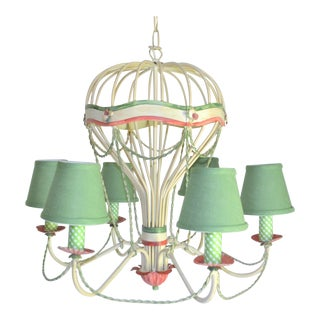 1960s Italian Tole Hot Air Balloon Chandelier For Sale