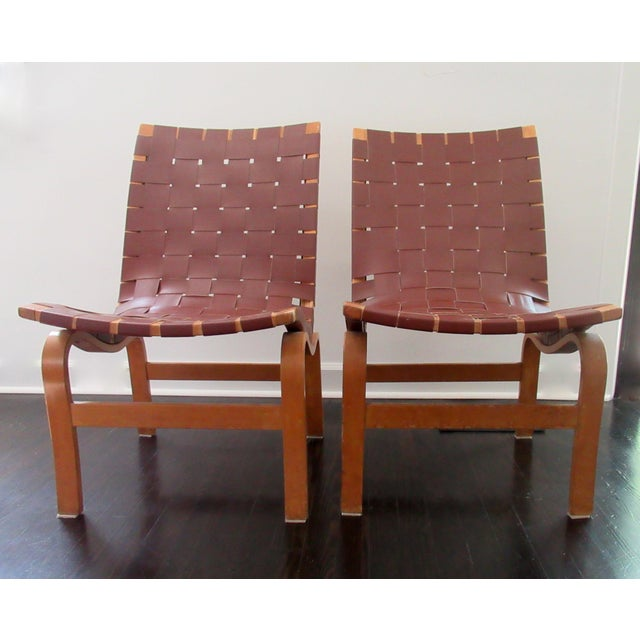"""Final Markdown: 1940-49 Vintage Bruno Mathsson Mid-Century Modern Scandinavian """"Eva"""" Easy Chairs - a Pair For Sale - Image 12 of 13"""