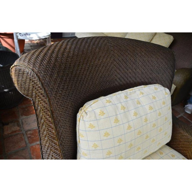 Hickory Chair Company Rattan Club Chair - Image 6 of 8