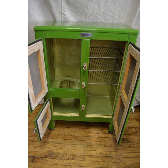 Green Green Ice Box Refrigerator Bar by Windsor, circa 1920s For Sale - Image 8 of 10