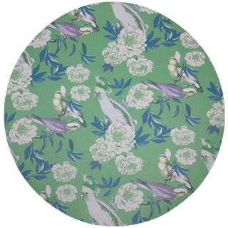 "Nicolette Mayer Peony Inspira Tropical 16"" Round Pebble Placemats, Set of 4 For Sale"