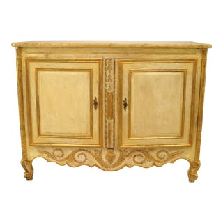 Late 18th or Early 19th Century Italian Gilt-Trimmed Commode For Sale